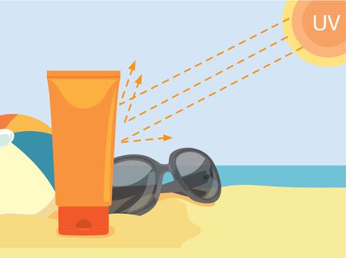 Summer cream protect lotion design vector 14