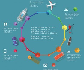 Transportation business template vector design 02
