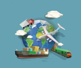 Transportation business template vector design 03