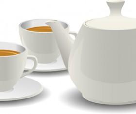 Two cups of tea vector design