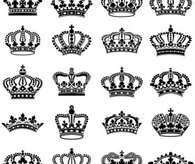 Vector crown creative silhouettes set 04