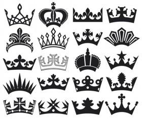 Vector crown creative silhouettes set 06