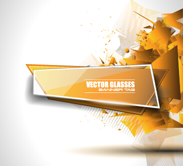 vector glasses banner with modern background 02 free download