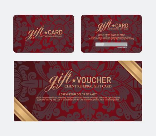 vector set of gift voucher design elements 01 free download