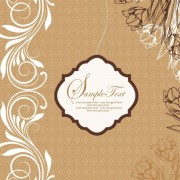 Vintage floral background psd graphic
