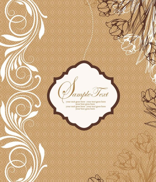 Vintage floral background psd graphic - Backgrounds PSD File free ...