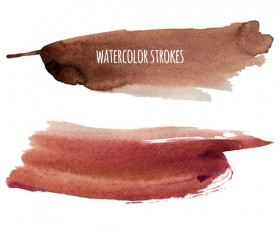 Watercolor strokes vector brushes set 09