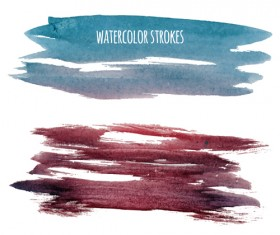 Watercolor strokes vector brushes set 10