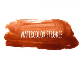 Watercolor strokes vector brushes set 12