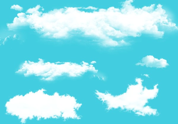White cloud psd background