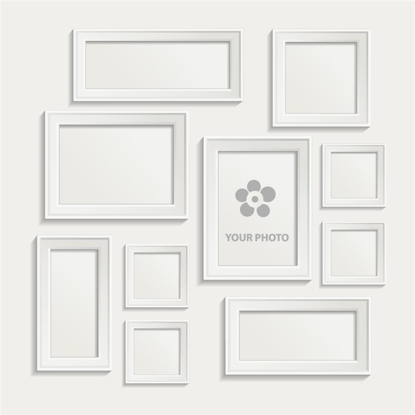 Exceptional White Frame Set Part - 2: White Photo Frame Set 02 Vector