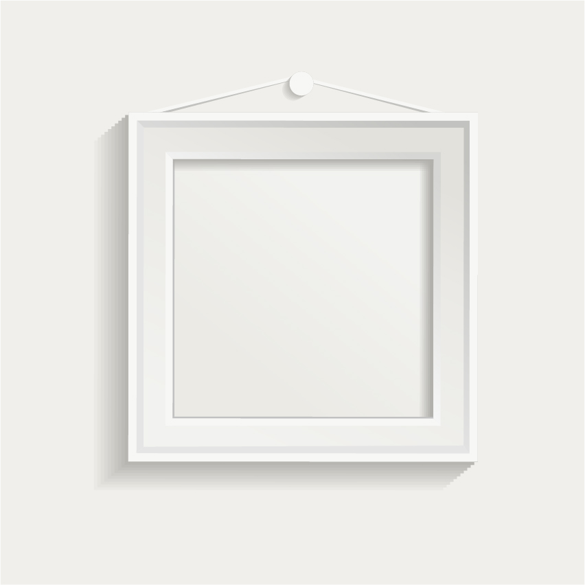 White Photo Frame Set 04 Vector Free Download