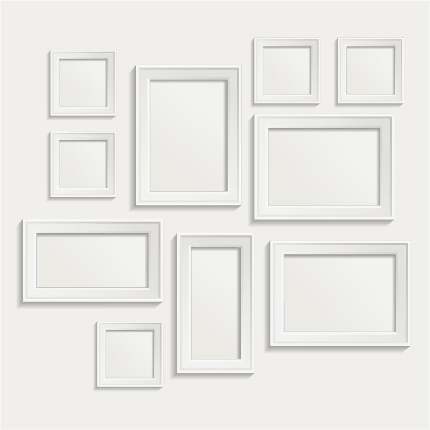 White Photo Frame Set 06 Vector Vector Frames Amp Borders