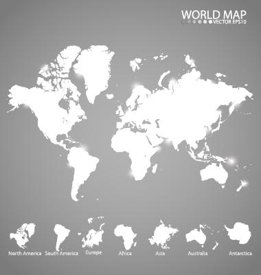 White world map creative vector vector maps free download white world map creative vector gumiabroncs Gallery
