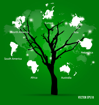 World map tree vector material 02 vector maps free download world map tree vector material 02 gumiabroncs Images