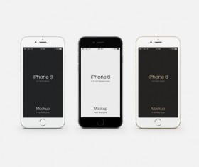 iphone 6 mobile template psd