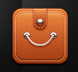 leather styles application icons psd material