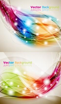 Brilliant dynamic effects background vectors