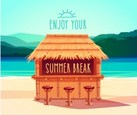 2015 summer vacation poster vintage vector 01