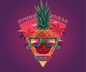 2015 summer vacation poster vintage vector 07