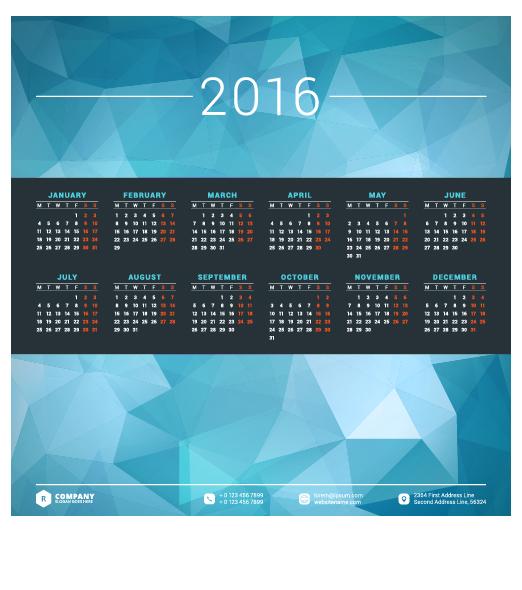Calendar Design For Company : Company calendar creative design vector