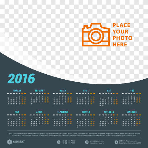 Calendar Design With Photos Free : Company calendar creative design vector