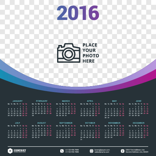 Corporate Calendar Design 2016 : Best calendar designs for inspiration in saudi arabia