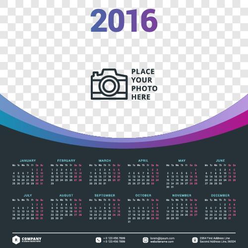2016 company calendar creative design vector 11 free download