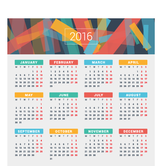 2016 company calendar creative design vector 15 free download