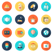36 travel with vacation icons vector