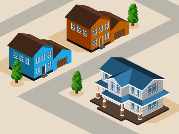 3d City Building Model Vector Set 04 Vector Architecture