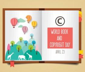 April 23 happy book day vector design 03