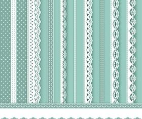 Beautiful lace borders vector design 01