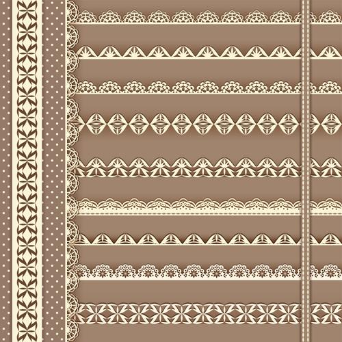 Beautiful lace borders vector design 02