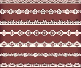 Beautiful lace borders vector design 03