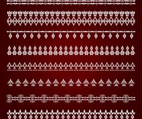 Beautiful lace borders vector design 04