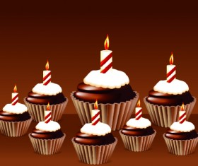 Birthday Cakes And Candles Vector Set 03