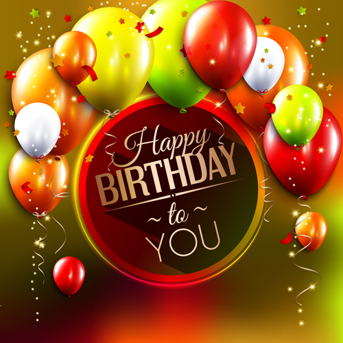 Birthday card with colored balloons vector 03 vector birthday free birthday card with colored balloons vector 03 bookmarktalkfo Choice Image
