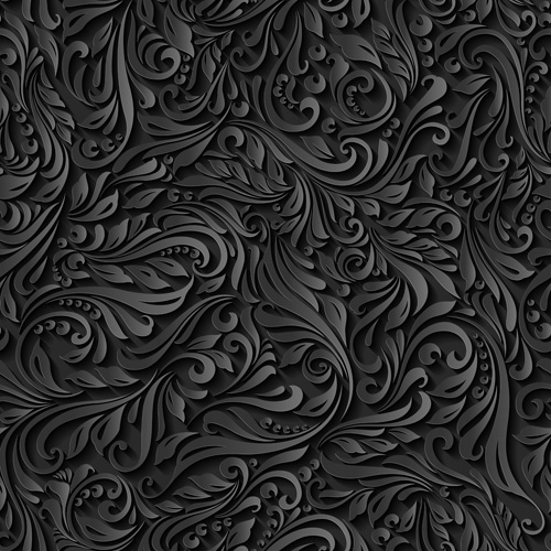 Black Paper Floral Seamless Pattern Vector Free Download Classy Black Pattern