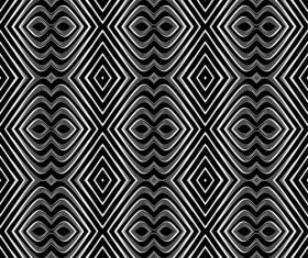 Black with white abstract seamless pattern vector set 01