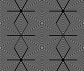 Black with white abstract seamless pattern vector set 03