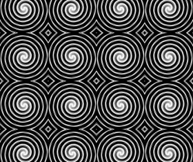 Black with white abstract seamless pattern vector set 10