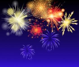 Brilliant holiday fireworks vectors set 01