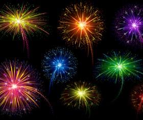 Brilliant holiday fireworks vectors set 02