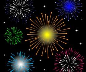Brilliant holiday fireworks vectors set 03
