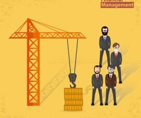 Businessmen work concept template vector 01