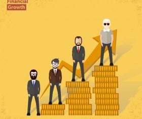 Businessmen work concept template vector 02