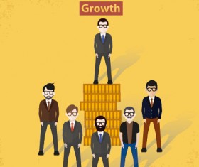 Businessmen work concept template vector 06