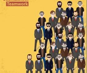 Businessmen work concept template vector 09