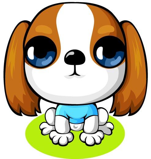 Cartoon Dog Big Eyes